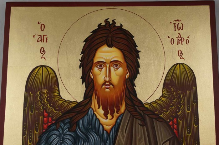 St John the Baptist (Large) Hand-Painted Orthodox Icon