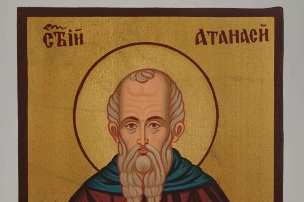 St Athanasius Icon small Hand Painted Byzantine Orthodox