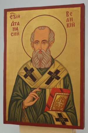 St Athanasius of Alexandria small Icon Hand Painted Byzantine Orthodox
