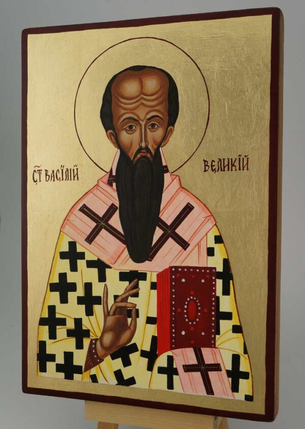 St Basil of Caesarea Icon Hand Painted Orthodox