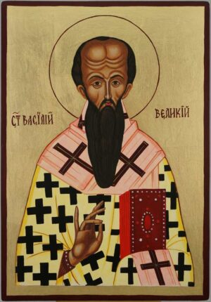 St Basil of Caesarea Icon Hand Painted Orthodox