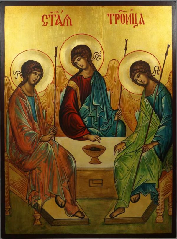Hospitality of Abraham (Andrei Rublev) Holy Trinity Hand-Painted Icon