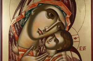 Virgin Mary Theotokos Tender Mercy Hand-Painted Orthodox Icon