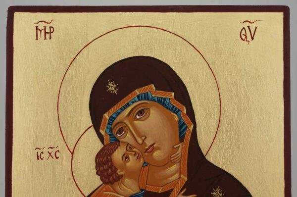 Virgin Mary Vladimirskaya Icon Hand Painted Byzantine Orthodox