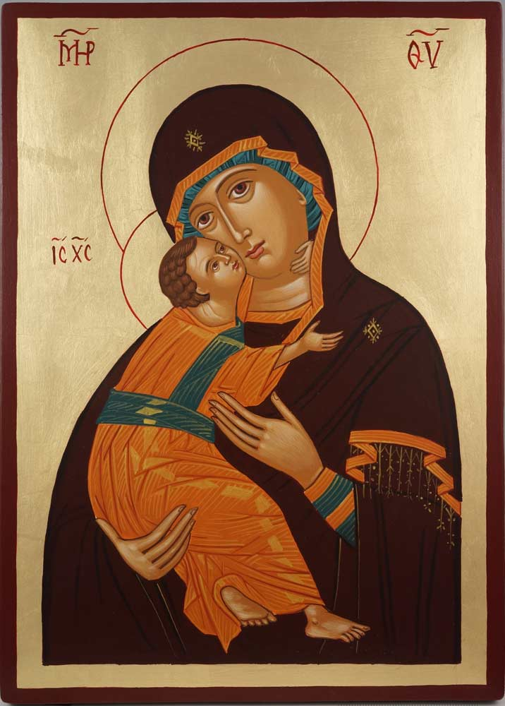 Vladimirskaya Mother of God Virgin Mary Hand Painted Orthodox Icon