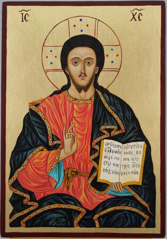 Christ the Teacher Icon Hand Painted Byzantine Orthodox