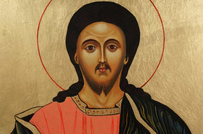 Hand-Painted Orthodox Icon of Christ the Teacher