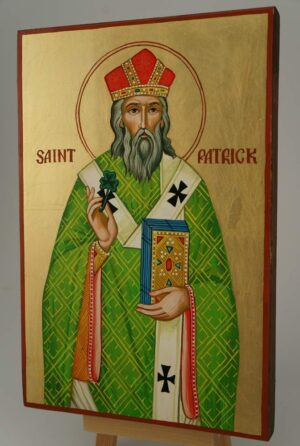 Saint Patrick of Ireland Icon Hand Painted Byzantine Orthodox