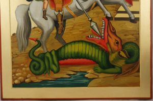 St George the Dragonslayer Hand-Painted Orthodox Icon