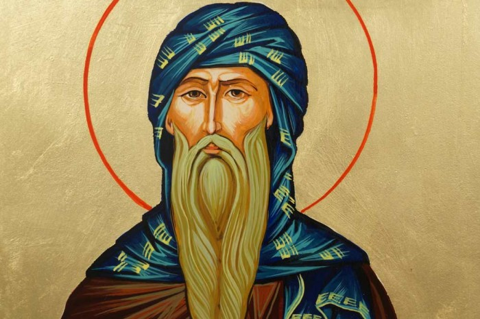 Hand-Painted Orthodox icon of Saint Isaac the Syrian