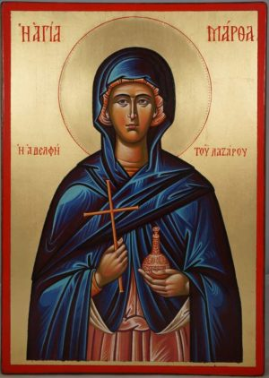 Saint Martha of Bethany Hand-Painted Greek Orthodox Icon