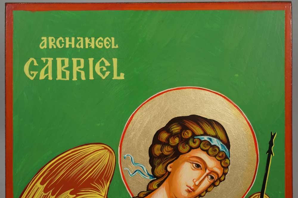 Archangel Gabriel Hand-Painted Orthodox Icon