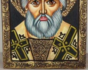 St Nicholas (small) Hand-Painted Orthodox Icon