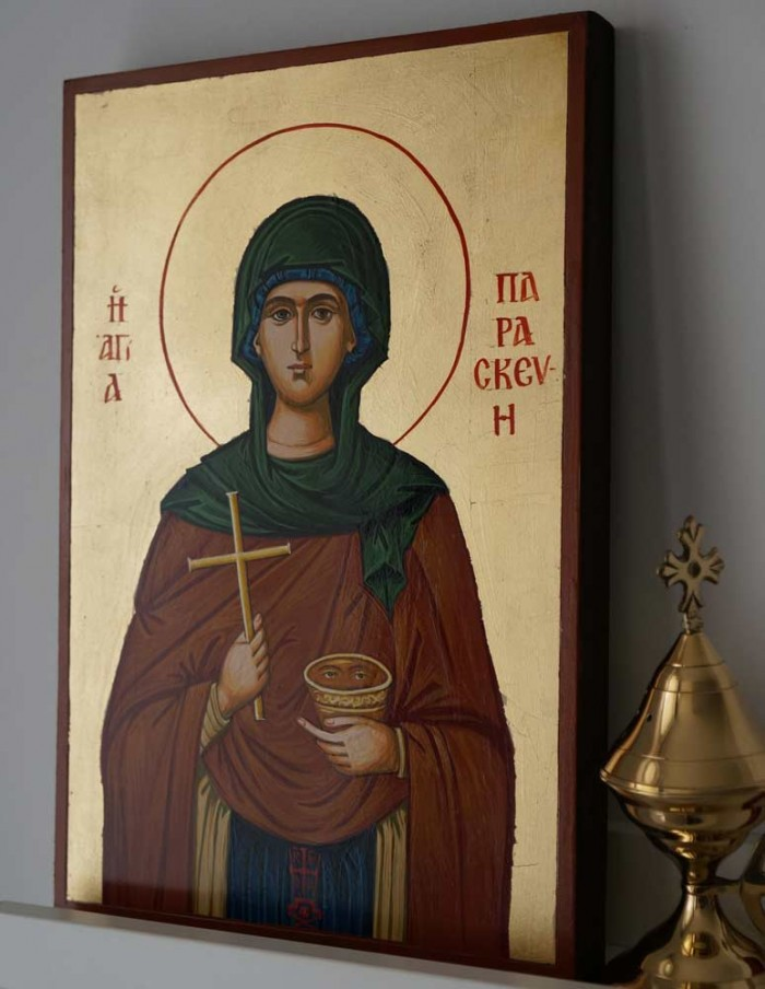 Saint Paraskevi (Petka) Hand-Painted Orthodox Icon
