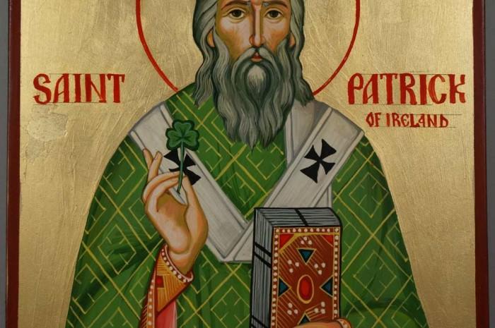 St Saint Patrick of Ireland Hand-Painted Orthodox Icon