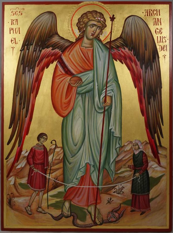 Saint Archangel Raphael Hand-Painted Orthodox Icon