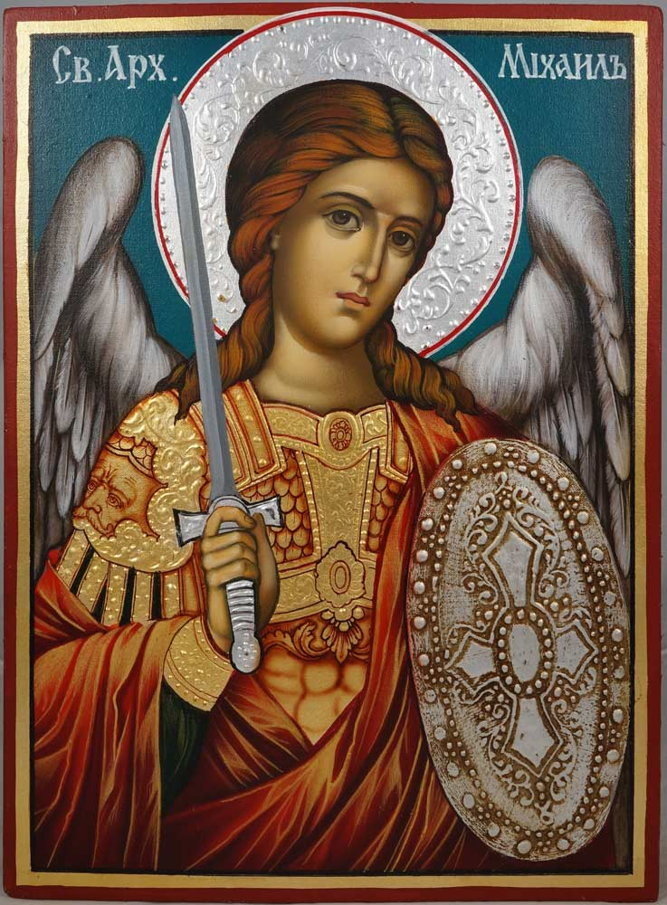 saint michael hand painted icon blessedmart