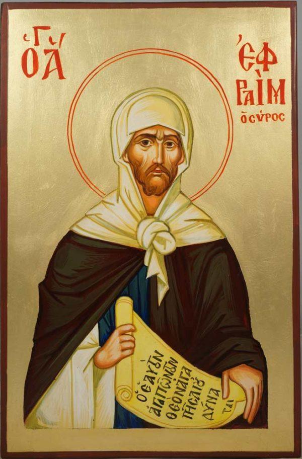 St Ephraim the Syrian hand-Painted Orthodox Icon