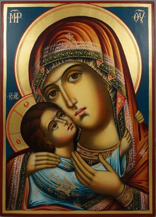 Virgin of Tenderness (Rila Monastery) Hand-Painted Icon