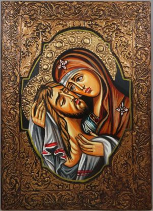 Theotokos and Jesus Christ Hand-Painted Orthodox Icon