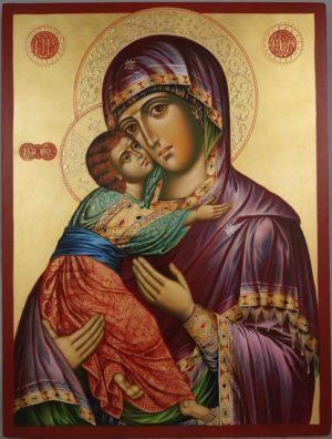 Vladimirskaya Mother of God (Eleusa) Hand-Painted Orthodox Icon