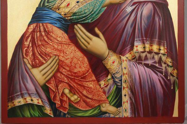 Vladimirskaya Mother of God (Eleusa) Hand-Painted Orthodox Icon