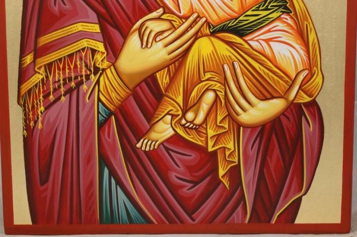 Madonna Eleusa Hand-Painted Greek Orthodox Icon