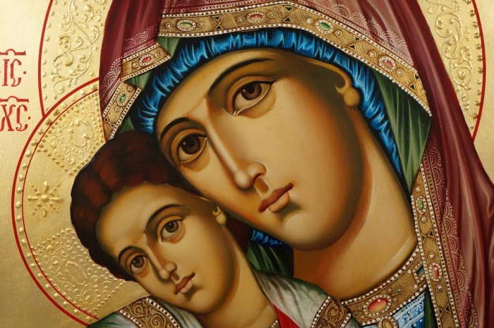 Hand-Painted Icon Virgin Mary Axion Estin (Dostoino Est)