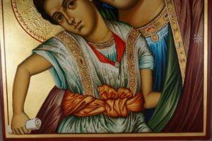 Hand-Painted Icon Virgin Mary Axion Estin (Dostoino Est)