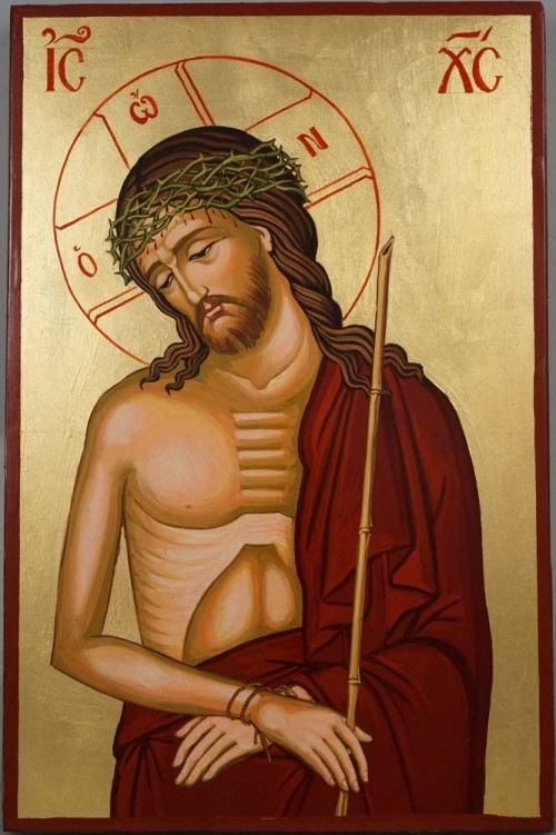 Hand-Painted Byzantine Icon of Christ the Bridegroom