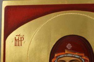 Hand-Painted Orthodox Icon Theotokos of the Sign (Oranta)