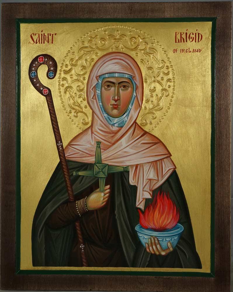 Hand-Painted Orthodox Icon of Saint Brigid of Ireland