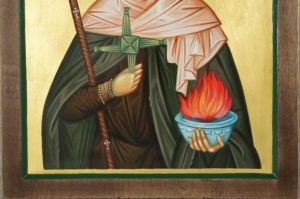 Hand-Painted Orthodox Icon of Saint Brigid of Ireland