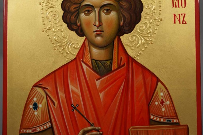 Saint Panteleimon Hand-Painted Orthodox Icon