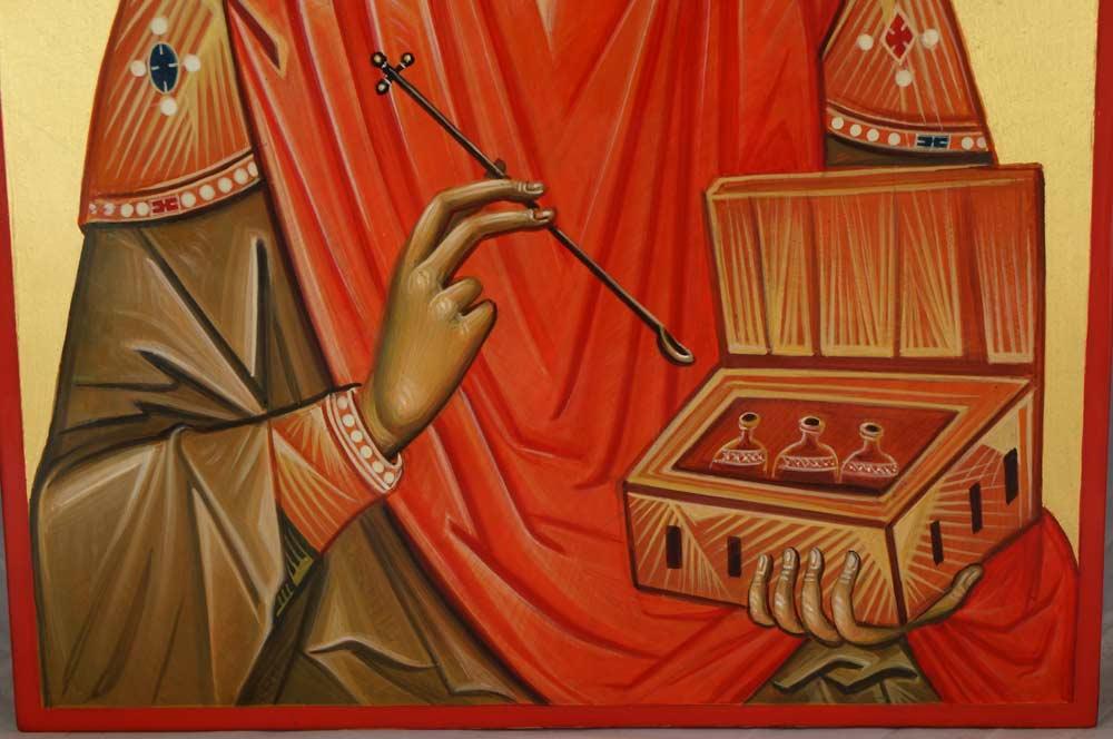 Saint Panteleimon Hand-Painted Orthodox Icon
