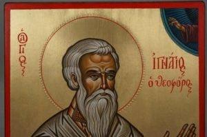 Hand-Painted Greek Orthodox Icon of Saint Ignatius of Antioch