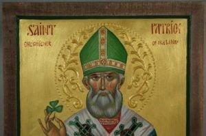 Hand-Painted Orthodox Icon of St Patrick Enlightener of Ireland