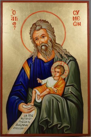 St Simeon The God-Receiver Symeon Hand-Painted Orthodox Icon