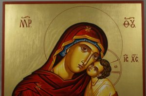 Hand-Painted Orthodox Icon of Theotokos Tender Mercy