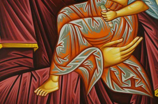 Hand-Painted Orhtodox Icon of Virgin Mary Tender Mercy