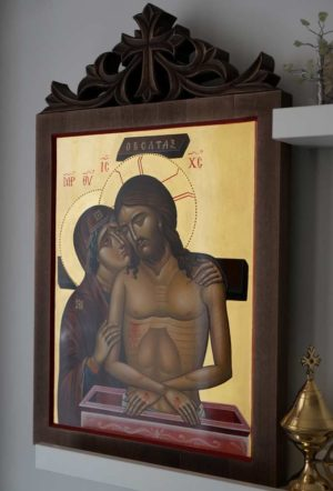 Jesus Christ (Do not weep for me, mother) Hand-Painted Byzantine Icon