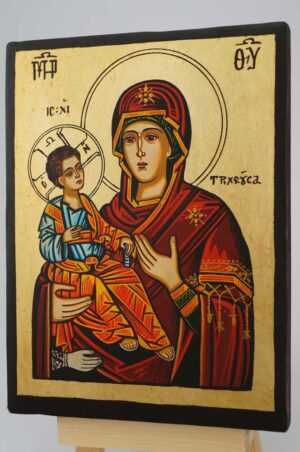 Panagia Tricherousa small Icon Hand Painted Byzantine Orthodox