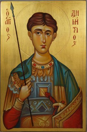 St Demetrios of Thessaloniki Hand-Painted Greek Icon