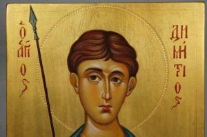 St Demetrios of Thessaloniki Hand-Painted Greek Icon