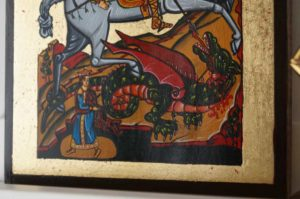 St George Slaying the Dragon Hand-Painted Orthodox Icon