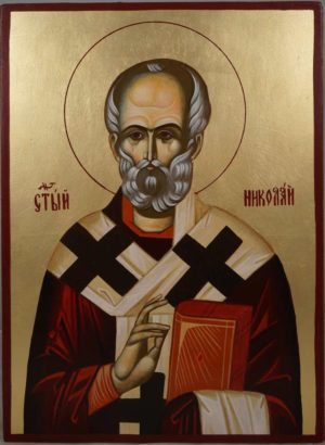 St Nicholas of Myra Hand-Painted Orthodox Icon