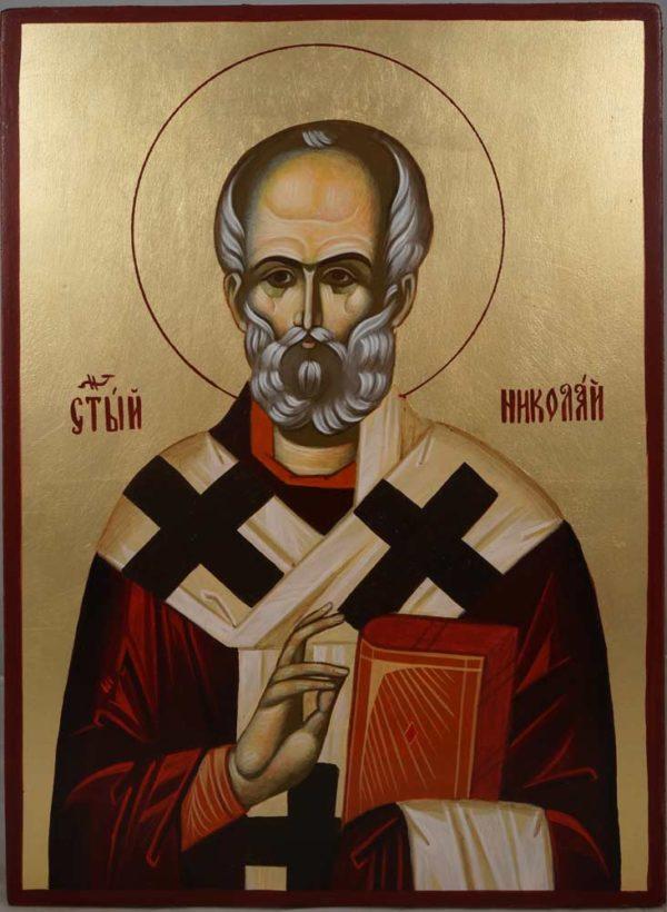 St Nicholas of Myra Hand-Painted Orthodox Icon