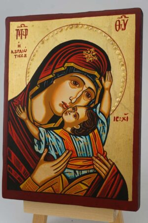 The Virgin Kardiotissa small Icon Hand Painted Byzantine Orthodox
