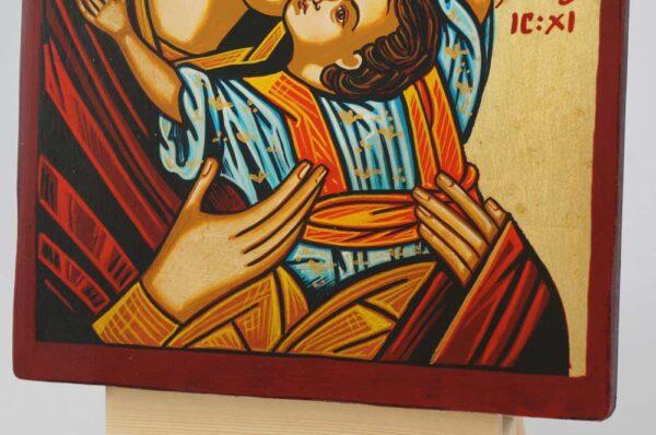 The Virgin Kardiotissa small Icon Hand Painted Byzantine Orthodox