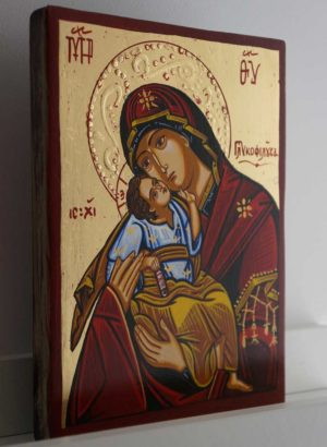 Theotokos Glykophilousa Hand-Painted Orthodox Icon